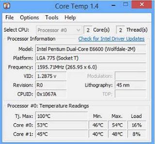 كيف تعرف درجة حرارة وحدة المعالجة المركزية للكمبيوتر