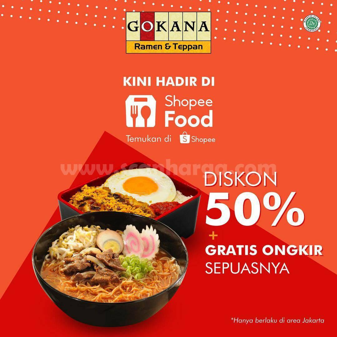 GOKANA Ramen Promo DISKON 50% via Shopee Food