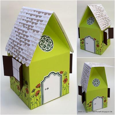 Häuschen als Geschenkverpackung zum Einzug ins neue Heim Stampin' Up! www.eris-kreativwerkstatt.blogspot.de