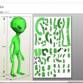extraterrestre, papercraft, rondipaper