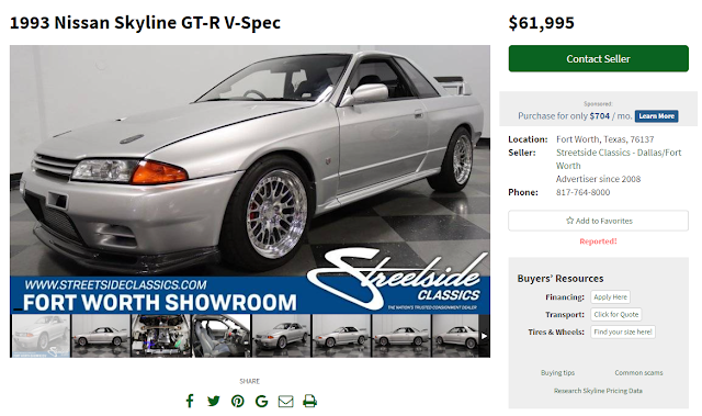 VIN Swapped R32 GT-R Being Offered For Sale by Street Side Classics In Fort Worth Texas