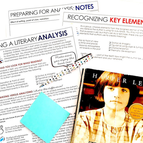 Lessons for teaching literary analysis