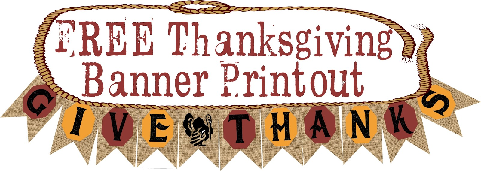 graphic about Printable Thanksgiving Banner referred to as HollysHome Family members Everyday living: Free of charge Thanksgiving Banner Printable