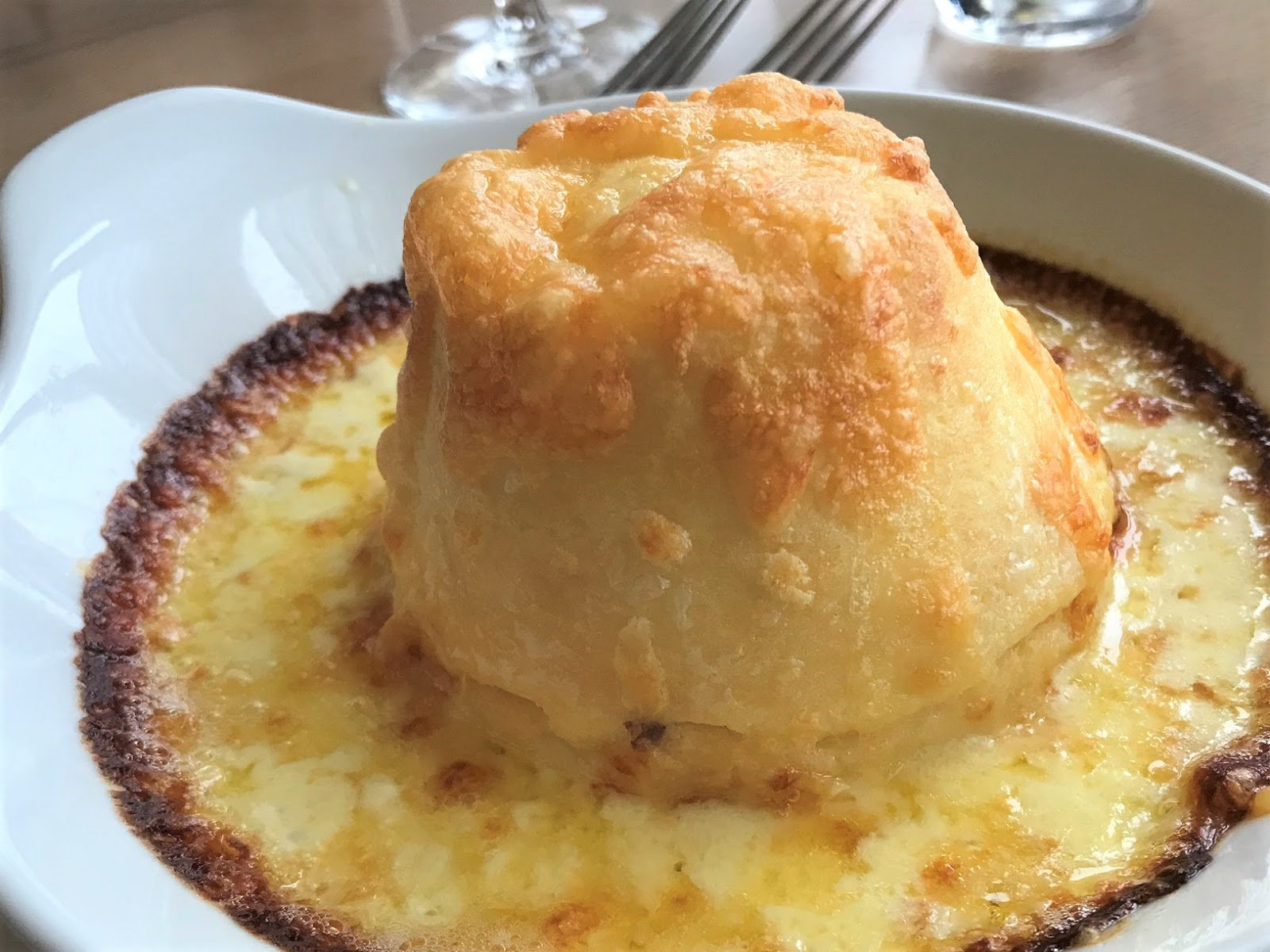 Cheese souffle, The Fowey Harbour Hotel