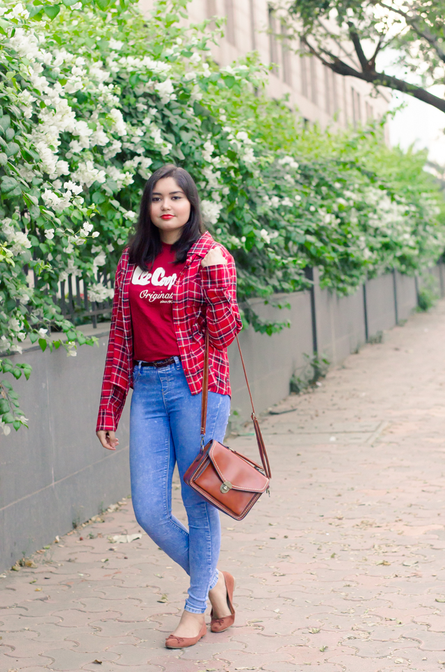 Plaid Shirt Indie Outfit Grunge for Spring time