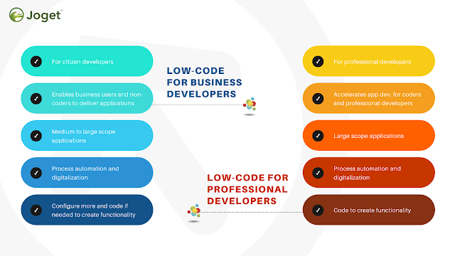 Low-code for business developers and professional developers