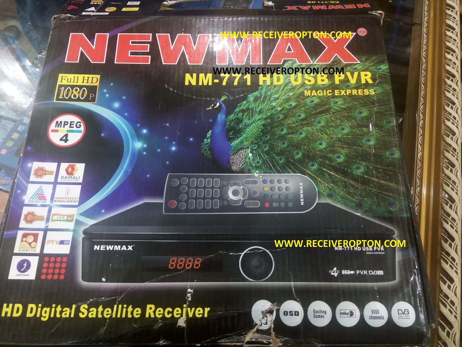 NEWMAX NM-771 HD USB PVR RECEIVER BISS KEY OPTION - HOW TO