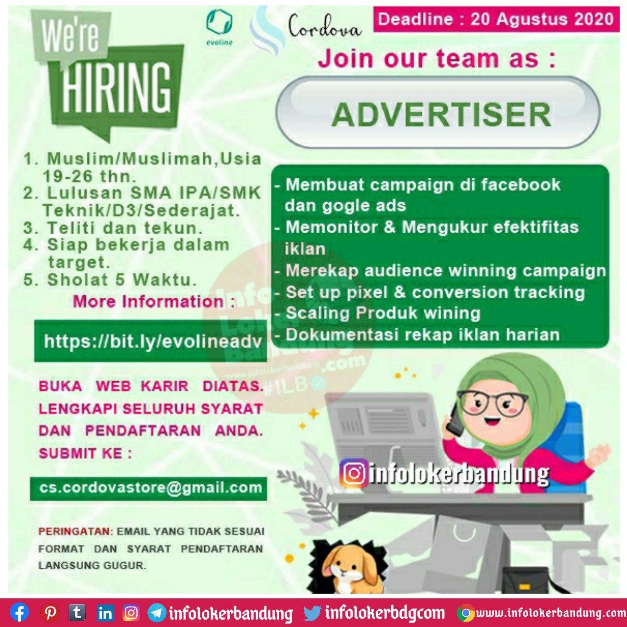Lowongan Kerja Cordova Group Bandung Agustus 2020