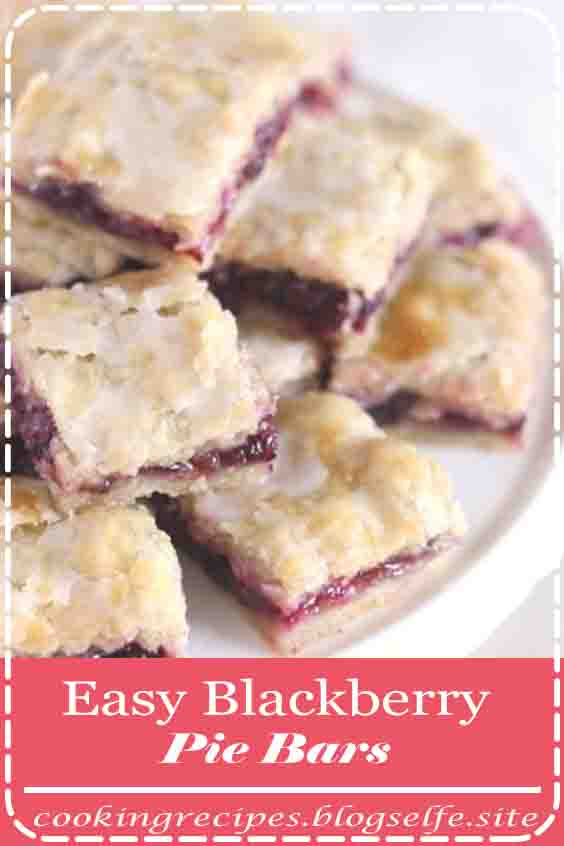 4.9 ★★★★★ | I love these blackberry pie bars! The sweet berry filling and tender, flaky crust are magical together. INGREDIENTS CRUST 2 1/2 cups...#dessert recipes #easy #no bake #healthy