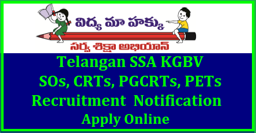TS KGBV/URS SOs, CRTs, PGCRTs, PETs Recruitment 2018 Notification, Online Application @ssa.telangana.gov.in TSSA released a notification for Recruitment of Special Officers SOs, CRTs, PGCRTs, PETs in Telangana KGVBs and URS | Recruitment Notification for the Recruitment of Special Officers SOs, CRTs, PGCRTs, PETs in Telangana KGVBs and URS| TSSA Special Officers SOs, CRTs, PGCRTs, PETs posts in Telangana KGVBs and URS Recruitment| Special Officers SOs, CRTs, PGCRTs, PETs Posts in Telangana KGVBs and URS Recruitment online application form |TSSA is inviting Online Applications form qualified candidates to the posts of Special Officers SOs, CRTs, PGCRTs, PETs Telangana KGVBs and URS | Vacancies,Eligibility Criteria Syllabus Exams| Scheme of Examination for KGVBs and URS Recruitment Posts | Date of Examination fee payment details| How to apply online for Special Officers SOs, CRTs, PGCRTs, PETs posts in Telangana KGVBs and URS notification by TSSA| TSSA Special Officers ,CRTs posts in Telangana KGVBs and URS Hall Tickets| TSSA Special Officers ,CRTs posts in Telangana KGVBs and URS Recruitment Results| TSSA Special Officers ,CRTs posts in Telangana KGVBs and URS Recruitment Exam Answer Key ,Final Key| TSSA Special Officers ,CRTs posts in Telangana KGVBs and URS Recruitment exam Date | TSSA Special Officers SOs, CRTs, PGCRTs, PETs posts in Telangana KGVBs and URS Recruitment exam Pattern and many more details are available on Commissions web portal www.ssa.telangana.gov.in| telangana-tssa-recruitment-notifiation-of-Special-Officers-SOs-CRTs-PGCRTs-PETs-KGVB-URS-Notification-apply-online-hall-tickets-results-merit-list-download-ssa.telangana.gov.in TS kgbv special officers recruitment notification 2018,ts kgbvs special officers/sos , contract resource teachers(crts) recruitment 2018,application form,last date for apply,hall tickets,written exam date,selection list,results,ssa telangana,kgbv residential schools, tssa kgbv special officer posts application form,kgbv special officers recruitment notification from ssa telangana special recruitment notification 2018, kgbv schools of telangana state , download application form for special officers in telangana, recruitment of sos/special officers in kasthurba gandhi balika vidyalaya schools of telangana .last date to apply, procedings, notification and vacancies details with reservation, application form, general guidelines for special officers recruitment elgibility criteria, age limit, district wise vacancies, remuneration, roaster points, how to apply details, sos(special officers),contract resource teachers(crts) recruitment in new kgbvs,telangana kgbvs sos,crts recruitment,kgbvs teaching and non-teaching staff recruitment,KGBV SO,CRT Hall Tickets Download 2018 KGBV Special Officers(SOs), Contract Resource Teachers (CRTs) Recruitment 2018-TSSA @ ssa.telangana.gov.in/2018/06/telangana-tssa-recruitment-notifiation-of-Special-Officers-SOs-CRTs-PGCRTs-PETs-KGVB-URS-Notification-apply-online-hall-tickets-results-merit-list-download-ssa.telangana.gov.in.html