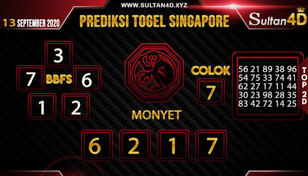PREDIKSI TOGEL SINGAPORE SULTAN4D 13 SEPTEMBER 2020