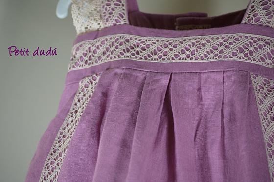 Vestidos para Niña con Encaje de Bolillos Petitdudu
