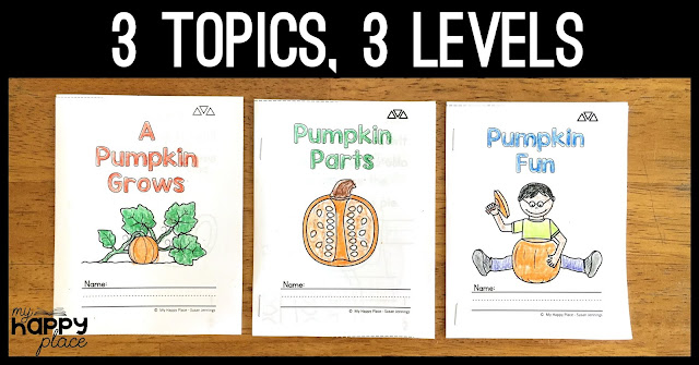 Differentiated Pumpkin Readers