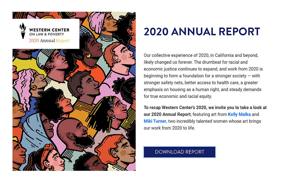 digital annual report example from WCLP