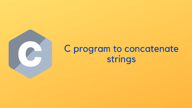 C program to concatenate strings