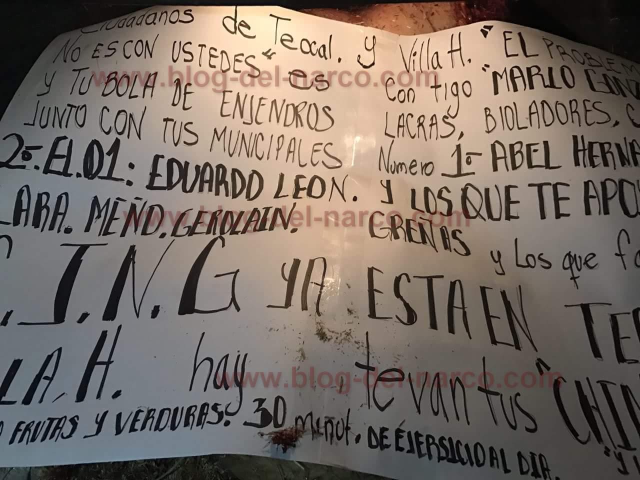 Fotografias; CJNG Descuartiza a 3 y los deja en cajuela de Taxi en Guadalajara