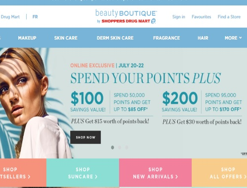 Shoppers Drug Mart Beauty Boutique Spend Your Points Plus Event
