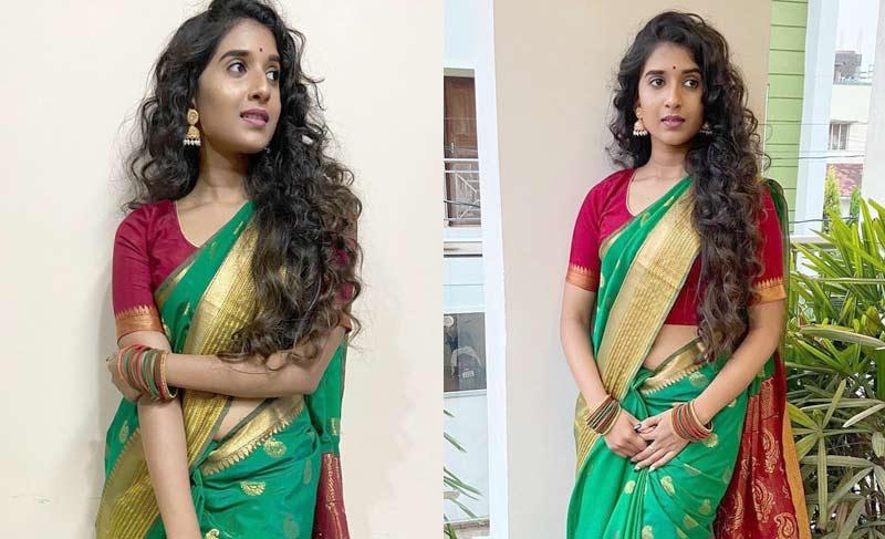 Actress Divyaa Mohanty burns internet with her resplendent green saree avatar - Check Out Photos
