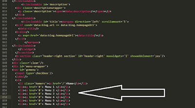 edit menu navigasi