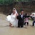 These Couple Refused To Let Bad Weather Stop Their Church Wedding
