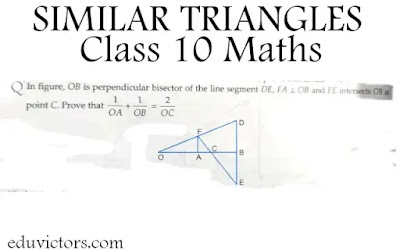 CBSE Class 10 - Similar Triangles - Long Answer Type Question (#Class10Maths)(#SimilarTriangles)(#eduvictors)