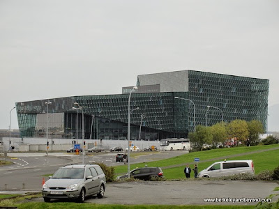 exterior of Harpa Concert Hall in Reykjavik, Iceland