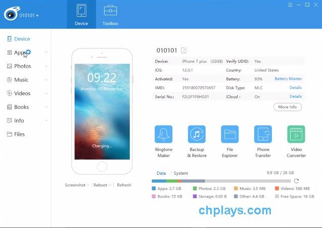 Download iTools - Sao lưu, copy dữ liệu iPhone, iPad mới nhất a