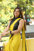 Cute Actress Ashwini in Yellow Saree Exclusive  027.JPG