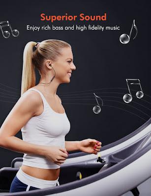 Tribit XFree Color Bluetooth Headphones - Running Earphones
