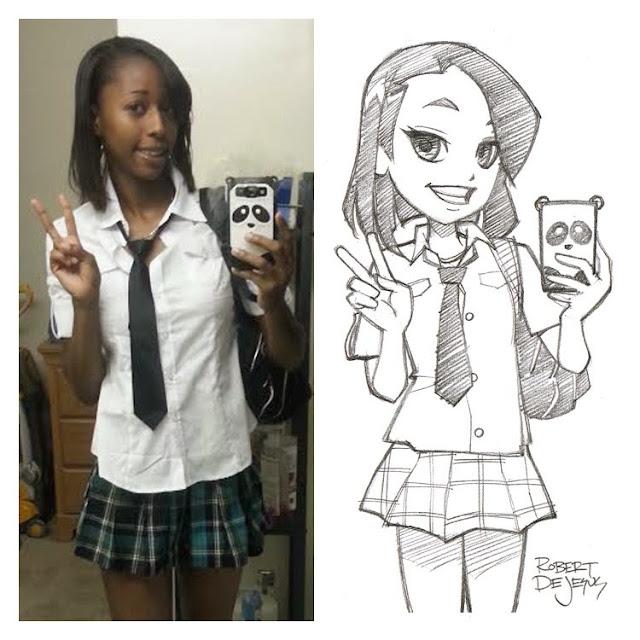 Personas convertidas en graciosos dibujos anime