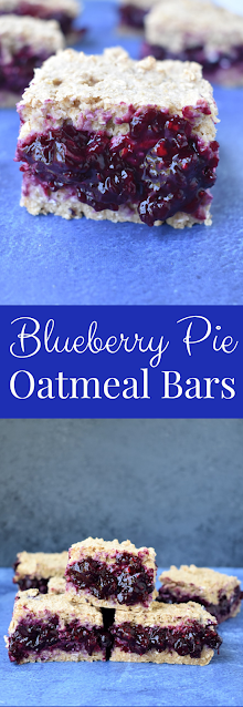 Blueberry Pie Oatmeal Bars recipe