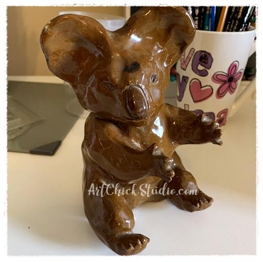 High School Ceramic Koala - Art Chick Studio