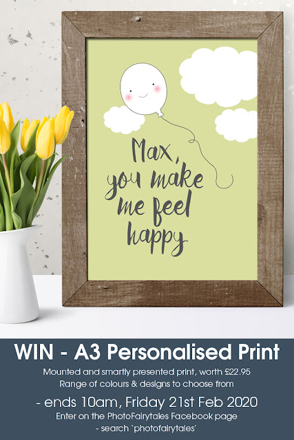 Win an A3 Personalised Print from PhotoFairytales