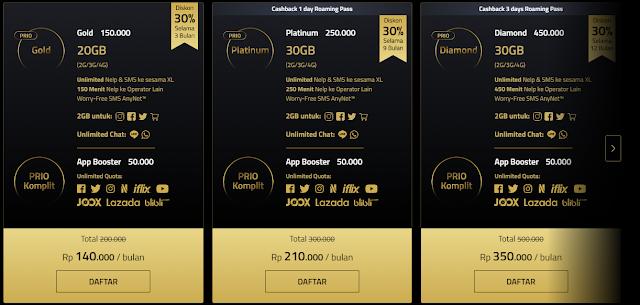 Paket Mobile Plan XL Prioritas