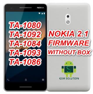 Nokia 2.1 TA-1080/TA-1092/TA-1084/TA-1093/TA-1086 Offical Stock ROM Firmware/Flash File Download