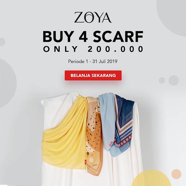 #Zoya - #Promo Beli 4 Scarf Hanya 200K (s.d 31 Juli 2019)