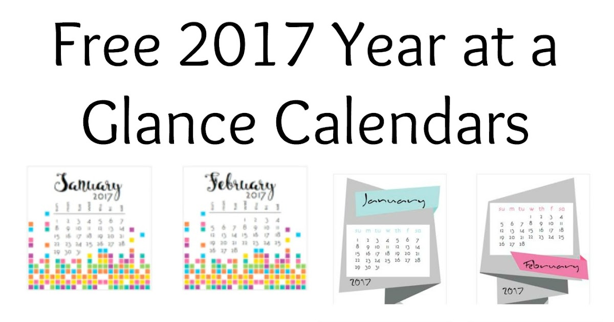 Musings of an Average Mom 2017 Year at a Glance Calendars