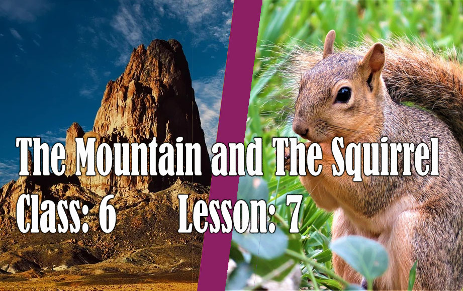 The Mountain And Squirrel Clas 6 Lesson 7 Assam English Question Answer Full Note Scert Theinfobell Com Paraphrase