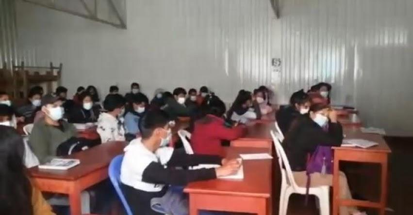 Intervienen academia prepolicial en Andahuaylas con más de 100 estudiantes en clases presenciales