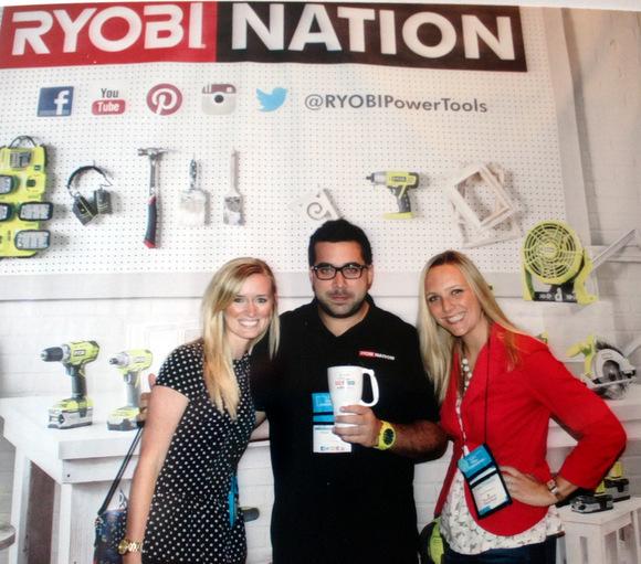 Bridget and Casey with RYOBI tools