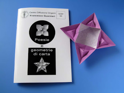 Origami: Booklet QQM 60 and Scatola piramidata by Francesco Guarnieri