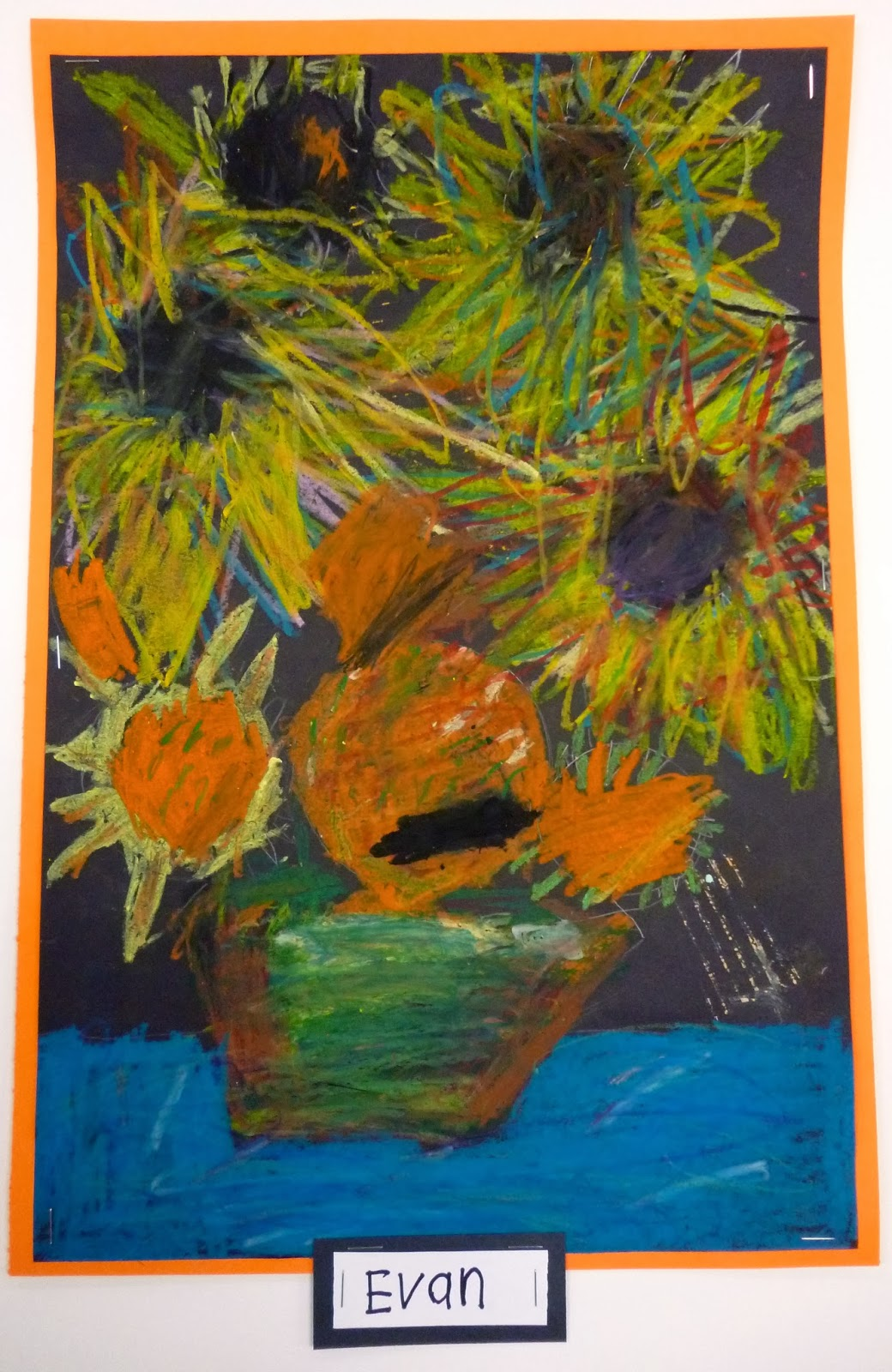 1st Grade Van Gogh Sunflowers Lesson On Seeing Color