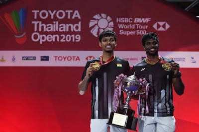 Satwiksairaj Rankireddy and Chirag Shetty win men's doubles title of Thailand Open