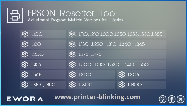 Download Epson Tool Adjustment Program All in One