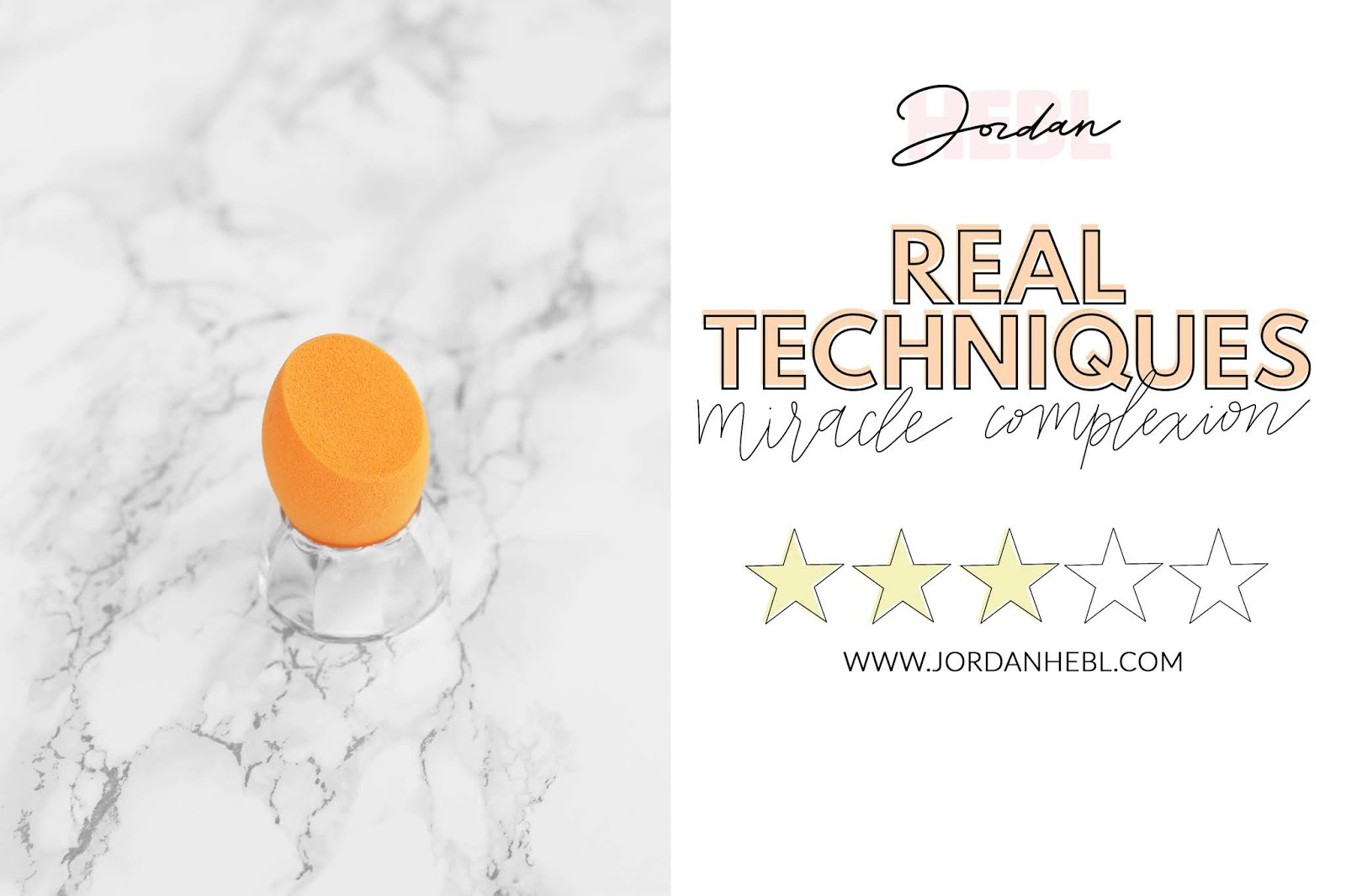 real techniques miracle complexion sponge, comparing makeup sponges, orange real techniques makeup sponge with marble background, beauty comparisons, beauty blogger