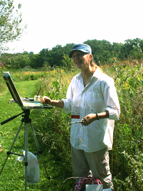 Plein air art at Art in Nature at Crabtree Nature Center in Barrington, IL