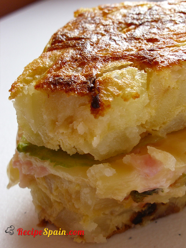 Delicious stuffed Spanish omelette