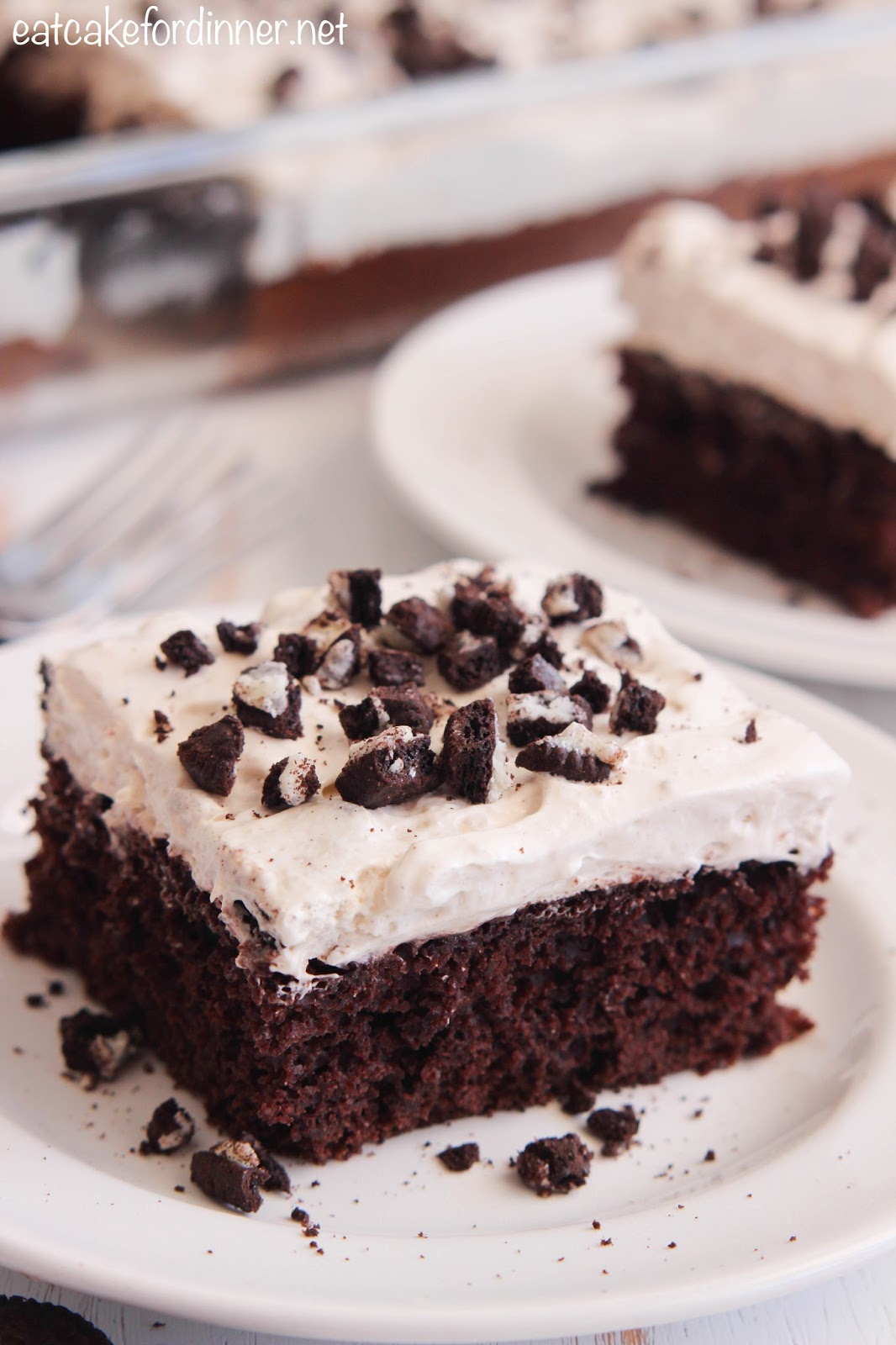 Skinny Cookies 'n Cream Chocolate Cake