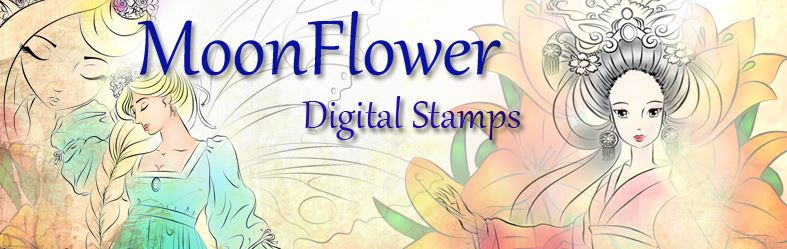 MoonFlower Digital Stamps