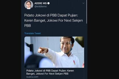 Jokowi For Next Sekjen PBB Digaungkan Pendukung, Netizen Cuma Bisa Ngakak